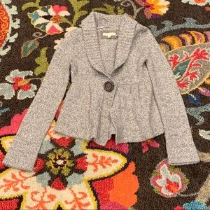 Grey Kaisely Button Sweater Cardigan